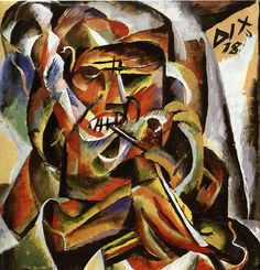 german-expressionists:  Otto Dix, Krieger mit Pfeife (Warrior with Pipe), 1918