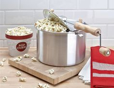 Make delicious popcorn with the Whirley Pop Popcorn Maker. It's fast and convenient. The Whirley Pop will make your kitchen smells like the movie theaters. For popcorn lovers, this is a must!