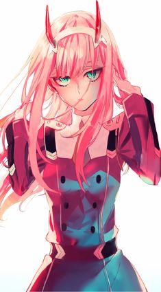 Darling in the franxx zero two art Anime Demon, Manga Anime, Anime Art, Zero Wallpaper, Seven Knight, Waifu Material, Zero Two, Fan Art, Best Waifu