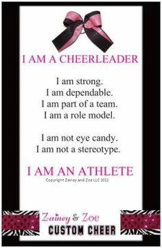 'I Am An Athlete' Poster-I am an athlete cheerleading poster, cheer gifts. My kids will be cheerleaders just like their mommy Cheer Camp, Football Cheer, Cheer Coaches, Cheerleading Gifts, Cheer Stunts, Cheer Gifts, Cheer Dance, Volleyball Players, Cheer Bows