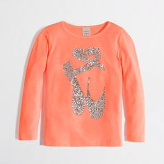 girls' long-sleeve sequin slippers   JCrew Factory Final Sale