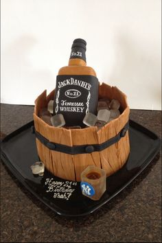 jack daniels birthday cake awesome cakes Pinterest Jack