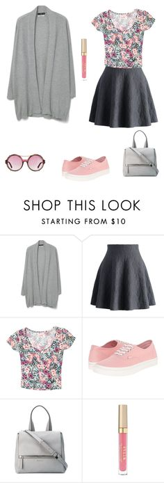 """""""cute and casual"""" by juliet-elizabeth-george ❤ liked on Polyvore featuring MANGO, Chicwish, Grayson, Vans, Givenchy, Tom Ford, Stila and PVHint"""