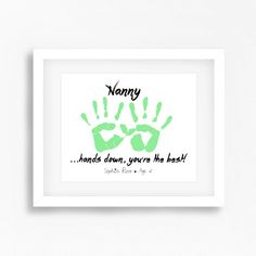 Mothers Day Gift for Nanny Personalised by PerfectLittlePrints More