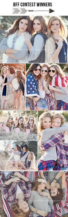 best friends photo shoot | bff | American flag | senior pose | teen photography. Instagram contest