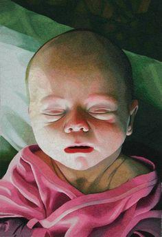"Birth And Death, Both A Birth  Diptych  47x79""/120x200cm  -2002-2003- Malin Lager"