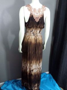 Gorgeous Brown Maxi Dress #Handmade #Maxi