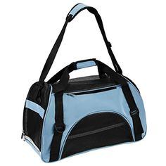 Pet Carrier Soft Sided Comfort Travel Breathable Large Tote Bag Hand Carrier Bag Medium Blue *** For more information, visit image link. (This is an affiliate link) #DogCarriers