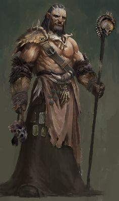 ArtStation - orc warlock, 柏坦 Elnino