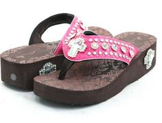 Montana West Flip-Flops, Hot Pink Cross!  Sooo cute & comfy!