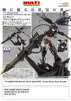 TV Animation Black Rock Shooter  Insane Black Rock Shooter  PO Price US$128  Deadline 20 January 2013  ETA Q2 2013