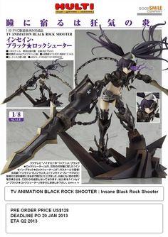 TV Animation Black Rock Shooter  Insane Black Rock Shooter  PO Price US$128  Deadline 20 January 2013  ETA Q2 2013