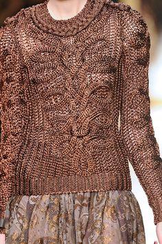 Runway fashion sweater.