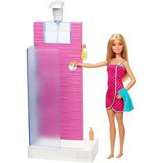 Check out the Barbie Shower on the official Mattel site. Explore all Barbie and Ken dolls, fashions, playsets and more today! Mattel Barbie, Barbie Und Ken, Barbie Doll Set, Barbie Doll House, Ken Doll, Barbie Dolls Diy, Barbie Bathroom, Barbie Bedroom Set, Accessoires Barbie