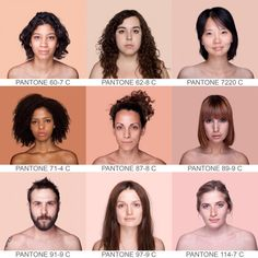 """The Brazilian photographer Angelica Dass created the project """"Humanae"""" that captures the tone of the skin of the models and the assessment as a part of the Pantone color. Thick Eyebrows, Photo Reference, Drawing People, Pantone Color, Photography, Color Portrait, Beauty, Soft Autumn, Lightbulb"""