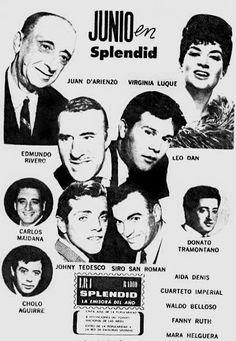 Publicidad de RADIO SPLENDID, Buenos Aires, década del 60.