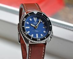 Opinions on Seiko Diver on leather please