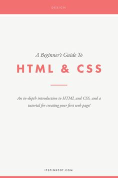 Want to learn the basics of HTML & CSS? Here is an in deoth introduction and a tutorial to create your own web page as well!