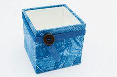 Caixinha de jeans - Portal de Artesanato - O melhor site de artesanato com passo a passo gratuito