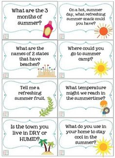 Summertime Trivia Questions & Games {for kids of all ages} by Mia McDaniel School Age Activities, Senior Activities, Summer Activities For Kids, Fun Facts For Kids, Outdoor Activities, Seniors Online, Kids Online, Online Games, Trivia Questions For Kids