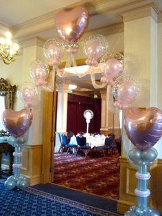 Whenever and wherever there is a celebration, there must be a large number of colorful balloons! Sweet 16 Decorations, Balloon Decorations, Wedding Decorations, Balloon Ideas, Balloon Backdrop, Balloon Columns, Heart Balloons, Helium Balloons, Wedding Ballons