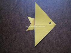 Origami Simple Angel Fish Folding Instructions | Origami Instruction.com