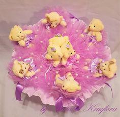 Лавандовые мишки в кимоно  Большой букет лавандового цвета из 9 мишек.  Он восхитителен! Станет прекрасным подарком на любой праздник! Диаметр 45 см. Высота 35 см.