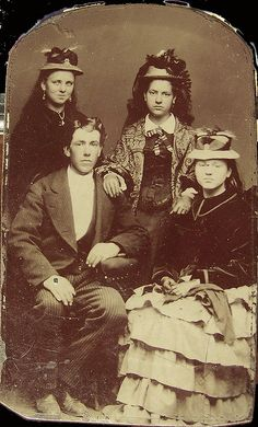 Victorian Teenagers, 1800s... Oh yeah! They have trouble written all over their faces. LOL!
