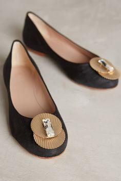 Monica Garcia Deco Ballet Flats - anthropologie.com