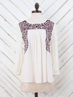 Altar'd State Floral Embroidery Top small