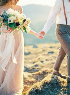 Pastel Elopement Inspiration – Featured on Wedding Sparrow