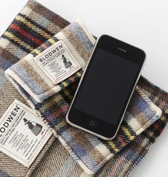 recycled Welsh vintage blankets | iPhone + iPad covers