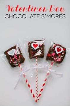 Valentines Day S'mores Pops