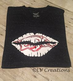 Arkansas Razorbacks Lips Kiss Shirt Tee Woo Pig Tshirt by llsocia