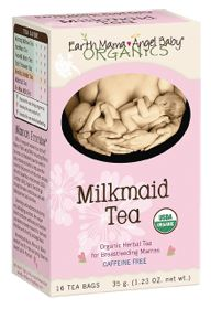 Organic Milkmaid Tea was created for those times when the Milk of Momness needs a little encouragement. Iced or hot, Organic Milkmaid Tea is a tasty blend of USDA Certified 100% Organic herbs traditionally used for healthy breast milk production.