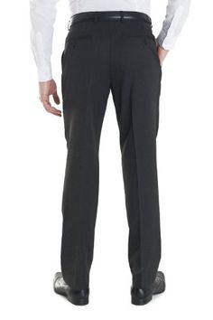 Dehavilland Mens Regular Fit Flat Front Washable Trouser Charcoal 36S Grey Mens Dress Pants, Suit Pants, Men Dress, Trousers, Mens Suits, Charcoal, Flats, Grey, Fitness