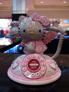 Hello Kitty Bling Modern Rotary Phone and like OMG! get some yourself some pawtastic adorable cat apparel!