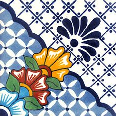 Infuse the spirit of the Southwest into your home with these beautifully handcrafted Talavera tiles! An eye-catching accent in kitchens and baths, decorative ceramic tiles are also perfect for covering the risers on a staircase or the walls of a patio. Ceramic Wall Tiles, Tile Art, Azulejos Art Nouveau, Mexican Ceramics, Tiles For Sale, Mexican Art, Mexican Tiles, Talavera Pottery, Decorative Tile