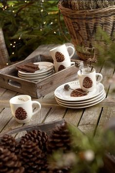 Pine cone holiday...