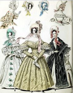 The World of Fashion and Continental Feuilletons 1836 Plate 26
