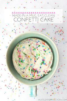 Skinny-Mini, Confetti Mug Cake (Paleo, GF, & Vegan Options Available!) » Hustle + Halcyon
