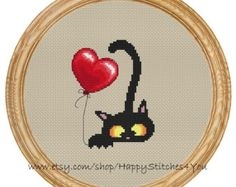 Cross Stitch Pattern PDF gatti DD0026 di HappyStitches4You su Etsy