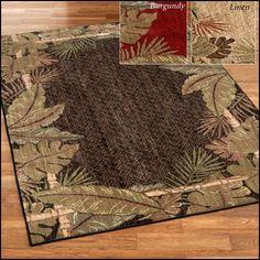 Hawaiian Print area Rugs