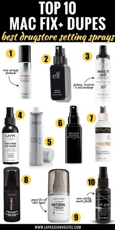 skin care Dupes setting spray - 10 Best Mac Fix Plus Dupes: These Setting Sprays Rival The Real Deal Best Drugstore Setting Spray, Mac Setting Spray, Best Makeup Setting Spray, Rimmel, Maybelline, Dupes Nyx, Best Drugstore Dupes, Nyx Cosmetics, Drugstore Contouring
