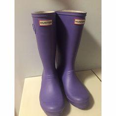 Adorable Bright Purple Hunter Boots