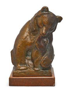 """** Jussi Mäntynen (Finnish 1886-1978), """"Affection"""" Sculpture, Patinated Bronze. Art Decor, Art Nouveau, Lion Sculpture, Auction, Bears, Bronze, Design, Sculpture"""