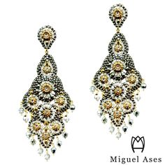 Miguel Ases classic pyrite chandeliers,  E19876