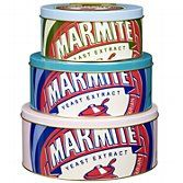 Marmite tin.  Not sure this is an authentic design.