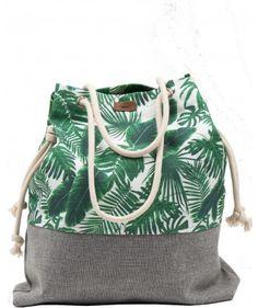 Tkaninowa torebka basic w palmy - me&BAGS