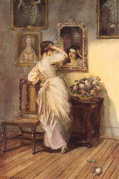 Hugh Thomson, Illuminating...the Dusky Mirror, 1915 by Gatochy, via Flickr